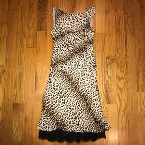 Vintage Tadashi Leopard Print Dress
